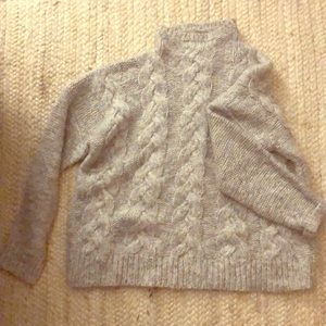 Madewell cable knit mock neck sweater